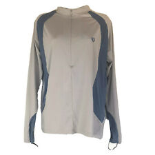 pearl izumi grey blue long sleeve 1/4 zip cycling jersey Size L