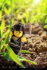 The Lego Ninjago Movie Poster (24x36) - Be Earth, Brown Ninja, Kai, Cole v6