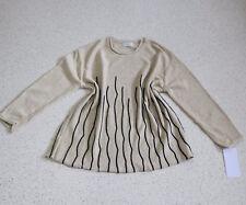 Julia LAGENLOOK Pullover EG 44 46 48 beige-schwarz Musterstrick NEU