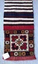 Tapis kilim rustique village carpet noue fait main teppiche rug tappeto 73x34cm