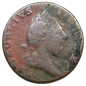1773 Virginia Half Penny Colonial Copper Coin 1/2p