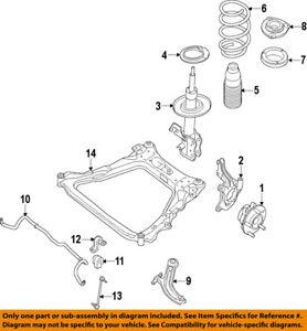 NISSAN OEM Stabilizer Sway Bar-Front-Bushing 546139N01B, Qty 1