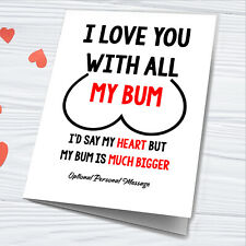 Funny Personalised Card Valentines Gifts For Joke Rude Husband Boyfriend Print