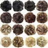 HK- Real Natural Curly Messy Bun Hair Piece Scrunchie New Fake Hair Extensions S