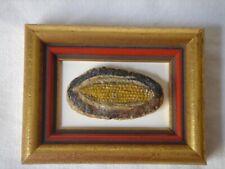 Charles Wehringer Miniaturist Unusual Original Painting of Corn on Rock, Framed