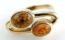 Gold Ring 375er mit Bernstein 9 Karat Gelbgold Antiker Ring Gr. 53 (16,8 mm Ø)