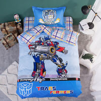 Transformers Single Bed Quilt Doona Duvet Cover Set 100% Cotton Pillowcase