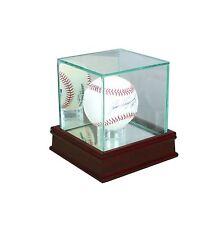 Real Glass New Baseball Display Case Cherry Sport Molding UV FREE SHIPPING