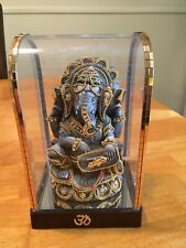 "5 3/4"" Lord Ganesha Statue Elephant God Ganesh Idol Resin Sculpture Display Case"