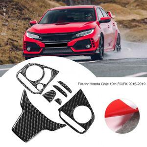 Carbon Fiber Car Interior Frame Trim Fit for Honda 10th Gen Civic 2016-2021 A