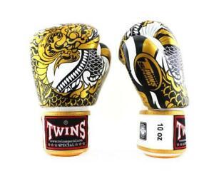 Twins New Boxing Gloves Fancy FBGVL3-52 Nagas Gold White 10,12,14,16 oz  MMA K1