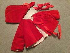 Doll Terri Lee Jacket and Hat Red Velvet Snowsuit tagged 1950s