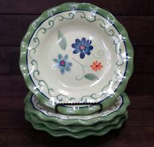 """Set of (4) Pfaltzgraff VERONA Ruffled Edge Salad Plates - 9"""" in Dia  - Excellent"""