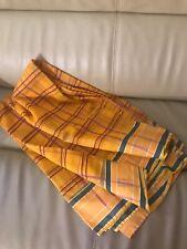 Indian Yellow Plaid Sari Saree Green Yellow Saree Sari South Indian Pattern