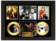 PARAMORE - A3 SIGNED FRAMED GOLD VINYL COLLECTORS CD DISPLAY PICTURE