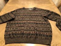 VTG 90S Mens Coogi Style Knit Sweater XL Cosby Biggie Smalls Multi Color Farrah