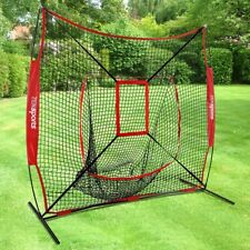 Portable Baseball Softball Practice HittingTraining Net 7x7 w/ Strike Zone & Bag