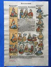 Altkoloriertes Blatt XXV, Schedel Weltchronik 1493, SEMIRAMIS, SÖHNE JAKOBS