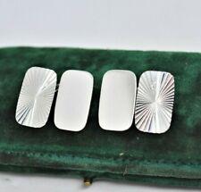 Vintage Mens Sterling Silver Cufflinks Art Deco Peaky Blinders design #R308