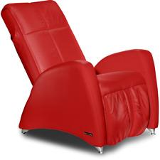 Massagesessel Fernsehsessel KEYTON Deco in Leder rot
