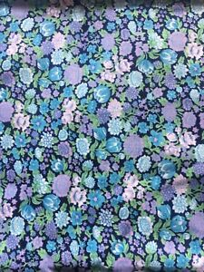 Vintage Dark Floral Fabric 2m (possibly 1980's liberty?)