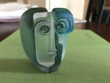 NEW - Mats Jonasson  Ideo - Miniature Blue Crystal Mask # 88189 -Maleras Sweden