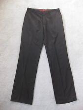 Men's HUGO BOSS Dark Brown Wool Trousers Size Medium - W32 L34