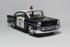 """1957 Chevy Bel Air Police Car 5"""" Die Cast Metal W/Pull Back Power & Opening Dr 6"""