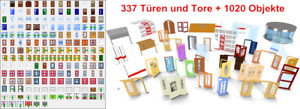 3D Objekt Paket TÜR UND TOR | ArCon Türen & Eingangselemente