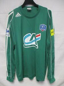 Maillot COUPE de FRANCE porté n°6 ADIDAS football shirt collection vert CA PMU