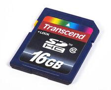 Transcend 16GB SD/SDHC Class 10 Memory Card for Digital Cameras EX
