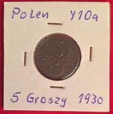 Polen Poland 5 Groszy 1930