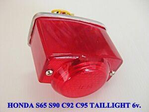 HONDA S65 S90 C92 C95 CA92 CA95 CB92 CT200 CT90 CA160 TAILLIGHT 6V. #BI3327#