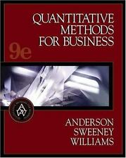 Quantitative Methods for Business, with CD-ROM, 9th edition, Dennis J. Sweeney,