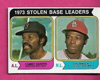 1974 TOPPS  # 204 LOU BROCK / HARPER LEADERS NRMT+  CARD (INV# A8811)