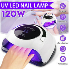 120W Nail Dryer Lamp Uv Light for Nails Polish Gel Machine Electric Manicure