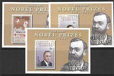 ANTIGUA SGMS3484 2001 NOBEL PRIZES CHEMISTRY WINNERS  MNH