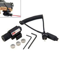 Red Laser Beam Dot Sight Scope Tactical Picatinny Mount Switch Rail Hunting Set