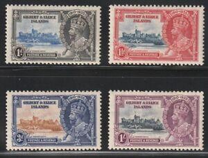 Gilbert & Ellis   1935   Sc # 33-36   Sikver Jubilee   MLH   (4018-3)