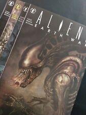 Aliens Earth War 1-4 Complete Set Dark Horse Comics! Horror Scifi Nm-