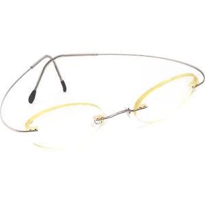 Silhouette Eyeglasses Gunmetal Rimless Metal Frame 46[]21 140