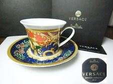 Versace Rosenthal BAROCK CHRISTMAS Cappuccino Cup & Saucer, New in Box