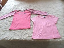 Lot 2 Tee-Shirts , 18 MOIS, Rose  ,  Marque  ABSORBA  , Excellent état
