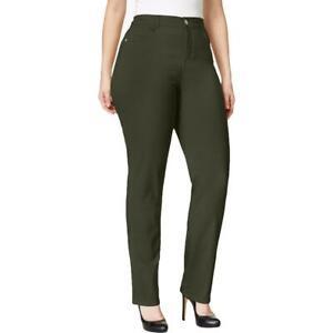 Style & Co. Womens Tummy Control High Rise Slim Leg Jeans Plus BHFO 3022