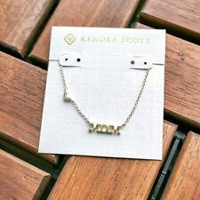 Pendant Necklace w/dust bag Kendra Scott Mom Gold