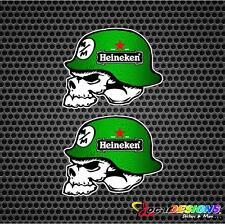 2x METAL MULISHA HEINEKEN HELMET VINYL CAR STICKERS DECALS