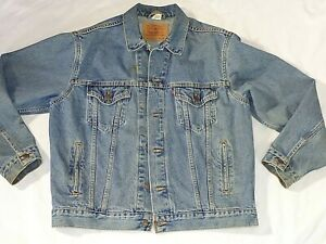 Vintage Mens Levi Straus Size M Medium Trucker Denim Jacket Coat