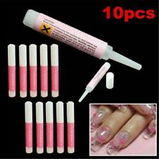 10Pcs 2g Nail Glue Clear Strong Adhesive Acrylic False Nails Tips Art Rhinestone
