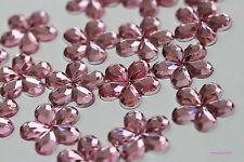 SPARKLING PINK ACYRLIC 15mm RHINESTONE Flower Gems x 20