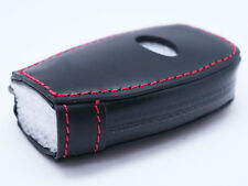 Red Stitching Leather Key Fob Protector Cover For Subaru WRX STI Forester BRZ